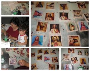 sacred heart tile collage