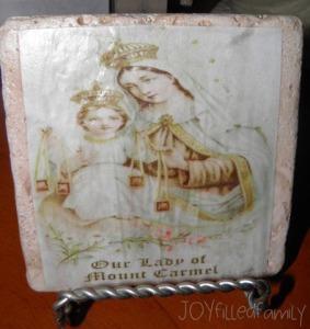 Our Lady of Mt Carmel Tile