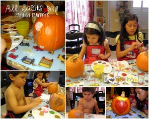 painted pumpkins collage