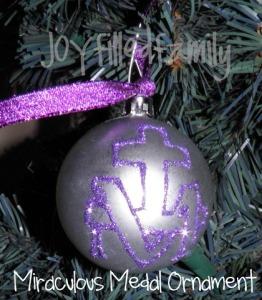 miraculous medal ornament joy