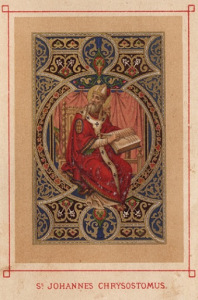 St. John Chrysostom Holy Card