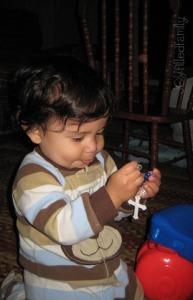 3.18 papi with rosary JOY