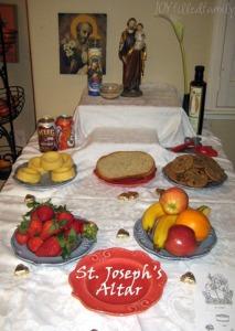 dad's st joseph's altar