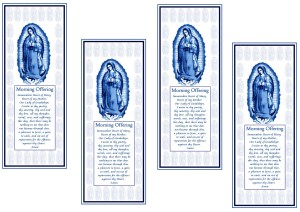 Our lady of Guadalupe  prayer card sheet
