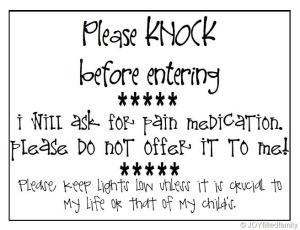 Labor Door Sign