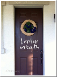 Lenten Wreath