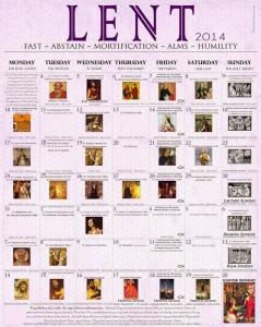 2014 Lenten Calendar - EO lpurple