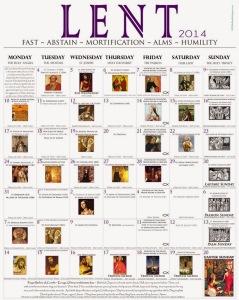 2014 Lenten Calendar - EO white