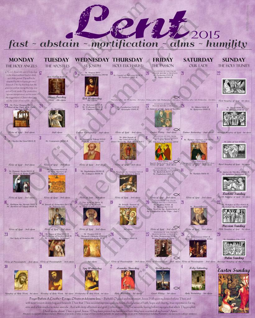 2015 Lenten Calendar JOYfilledfamily