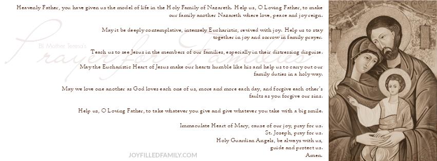 Prayer for Families banner