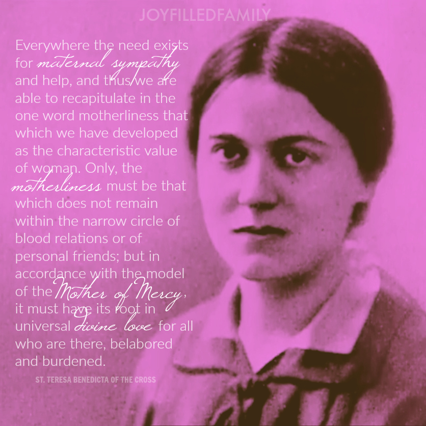 Edith Stein motherliness